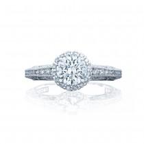 Tacori 2618RD6 Platinum Reverse Crescent Engagement Ring