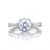 2646-25RDC65 Platinum Tacori Dantela Engagement Ring