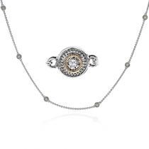 18K TWO TONE GOLD CH111 NECKLACE