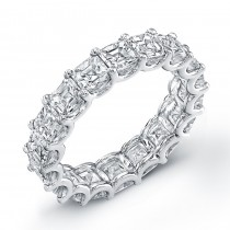 Uneek Platinum Asscher Cut Diamond Eternity Band-ETAS600