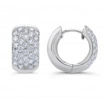 Uneek 18K White Gold Hoop Diamond Earrings LVE220