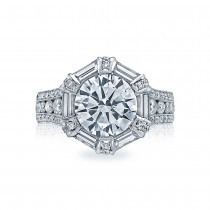 HT2603RD95 Platinum Tacori RoyalT Engagement Ring