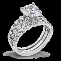 18K WHITE GOLD, WITH WHITE DIAMONDS. LP2380 - WEDDING SET