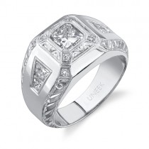 Uneek Platinum Radiant Diamond Men's Band LVB078
