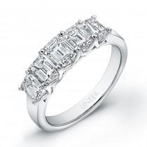 Platinum Emerald Diamond Wedding Band LVB108