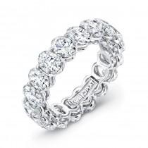 Uneek Oval Diamond Platinum Eternity Band LVB155