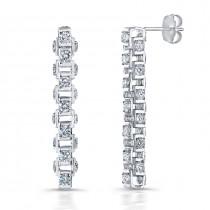 Uneek 18K Gold Cube Link Diamond Earrings LVE259