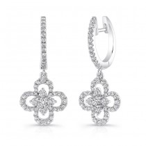 Petite Bouquet Collection 14K White Gold Diamond Earrings LVEJ09