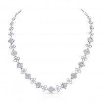 18K White Gold Diamond Necklace LVND02