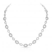 18K White Gold Diamond Necklace LVND04