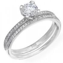 Zeghani Diamond Engagement Ring and Wedding Band Set