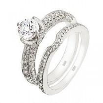 Elegant Designer Diamond Wedding Set by Zeghani