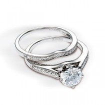 Alluring Zeghani Designer Diamond Wedding Set