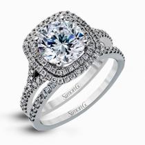 18K WHITE GOLD, WITH WHITE DIAMONDS. MR2461 - WEDDING SET