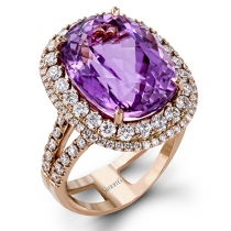 18K ROSE GOLD, WITH WHITE DIAMONDS. MR2469 - COLOR RING
