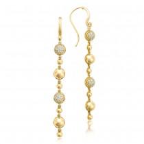 Pavé Dew Drop Line Earrings SE222Y