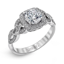 18K WHITE GOLD, WITH WHITE DIAMONDS. TR395 - ENGAGEMENT RING