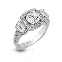 18K WHITE GOLD, WITH WHITE DIAMONDS. TR446 - ENGAGEMENT RING