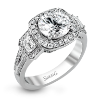 18K WHITE GOLD, WITH WHITE DIAMONDS. TR484 - ENGAGEMENT RING