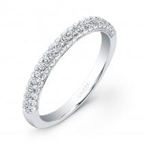 Uneek 21-Diamond U-Pave Wedding Band in 14K White Gold