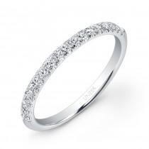 Uneek 18-Diamond Micropave Wedding Band in 14K White Gold