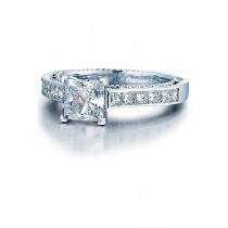 Verragio Princess Cut Channel Set Diamond Engagement Ring