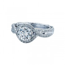 Verragio Twist Halo Diamond Engagement Ring