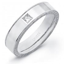 Uneek Men's 18K White Gold Princess-cut Diamond Ring WB176