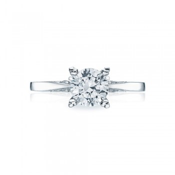 Platinum Simply Tacori Solitaire Engagement Ring 2584RD65