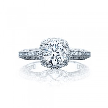 Tacori 2618CU65 Platinum Reverse Crescent Engagement Ring
