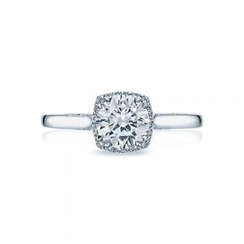 Tacori Platinum Dantela Engagement Ring 2620RDSM
