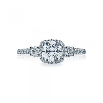 Tacori Platinum Dantela Engagement Ring 2623RDSMP