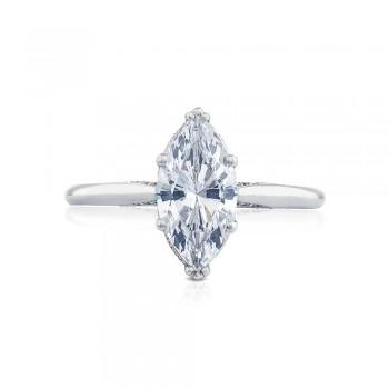 2650MQ12X6 Platinum Simply Tacori Engagement Ring