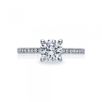 44-15RD65 Tacori Crescent Platinum Engagement Ring