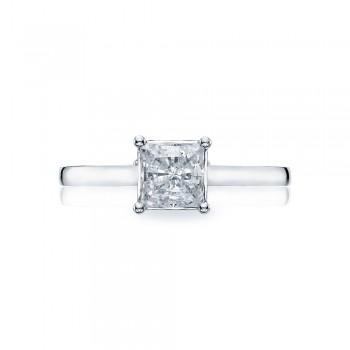 48PR55 Platinum Tacori Sculpted Crescent Engagement Ring