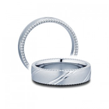 Verragio Men's Beaded Wedding Band-6mm