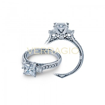Verragio Three-Stone Diamond Engagement Ring