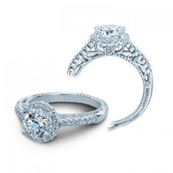 Verragio Round Halo Diamond Engagement Ring