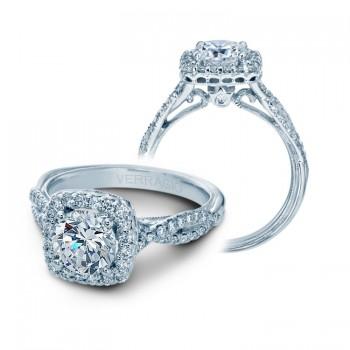 Verragio Twist Shank Halo Diamond Engagement Ring