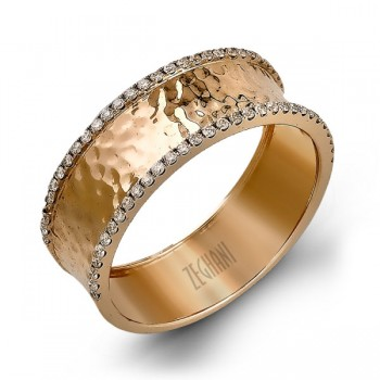 14Karat Rose Gold Right Hand Ring .18D