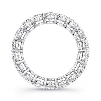 Uneek Platinum Oval Cut Diamond Eternity Band - ETOV500