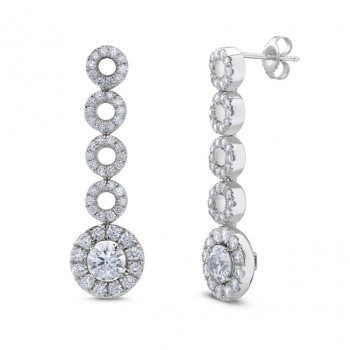 Signature Collection 18K White Gold Round Diamond Earrings LVE191