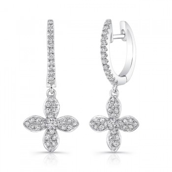 Petite Bouquet Collection 14K White Gold Diamond Earrings LVEJ04