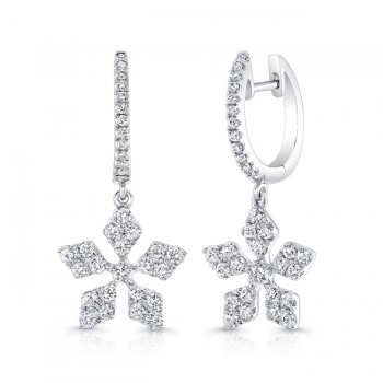 Petite Bouquet Collection 14K White Gold Diamond Earrings LVEJ06