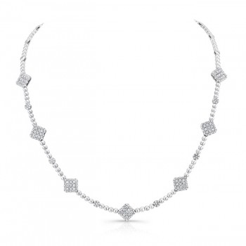 18K White Gold Diamond Necklace LVND01