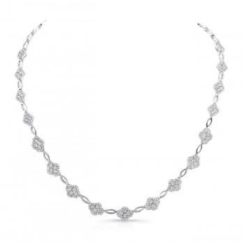 18K White Gold Diamond Necklace LVND05