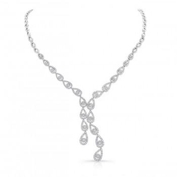 18K White Gold Diamond Necklace LVND06