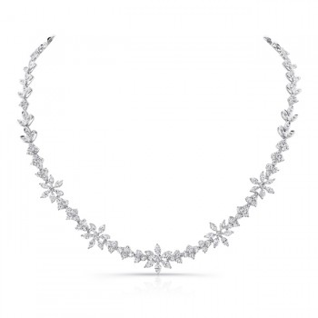18K White Gold Diamond Necklace LVNM01