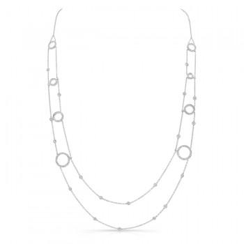 18K White Gold Diamond Necklace LVNM02