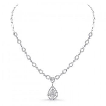 18K White Gold Diamond Necklace LVNM03